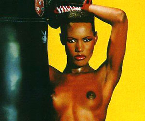 grace jones, who played may day in 1985's a view to a kill, naked