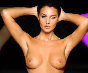monica bellucci, who played lucia sciarra in 2015's spectre, naked