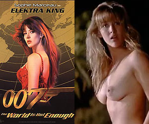 sophie marceau, the first ever bond girl in 1999's the world is not enough, naked
