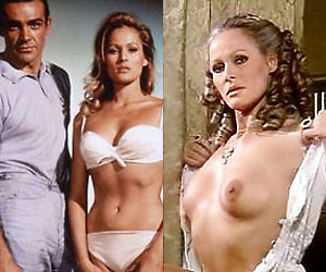 ursula andress, the first ever bond girl in 1962's dr no, naked